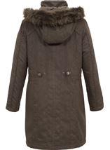 Anna Rose Suede Look Parka
