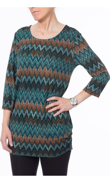 Zig Zag Brushed Knit Tunic