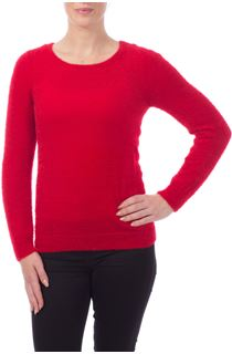 Feather Knit Top - Red