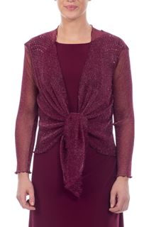 Sparkle Mesh Cover Up - Wine