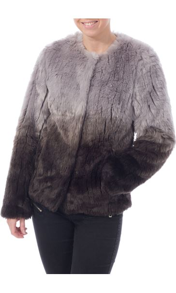 Ombre Short Faux Fur Jacket
