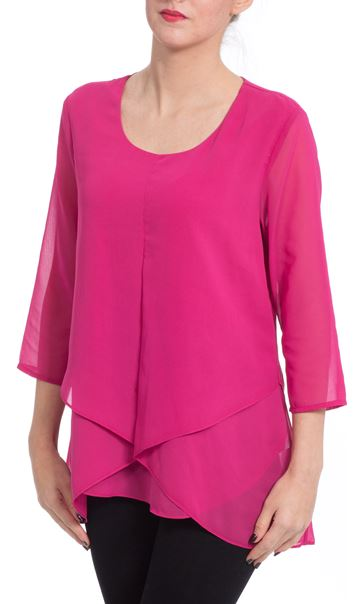 Double Layer Draped Top