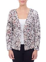 Printed Open Jacket