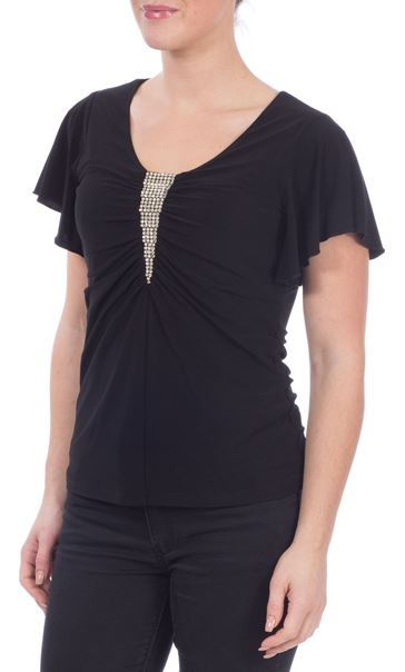 Diamante Trim Top