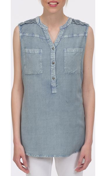 Washed Sleeveless Top