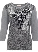 Anna Rose Printed Knit Top