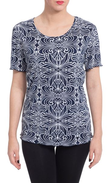 Anna Rose Printed Pleat Top