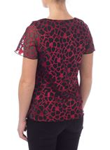 Anna Rose Floral Burn Out Top