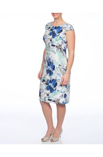Anna Rose Fitted Floral Dress