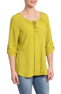 Tie Front Top - Lime