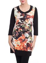 Floral Panel Print Tunic