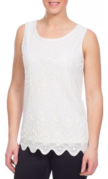 Embellished Sleeveless Top