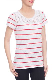 Seeing Stripes Top - White/Red