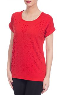 Laser Cut Layer Top - Red