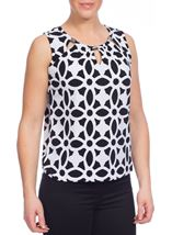 Floral Monochrome Print Top
