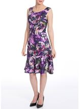 In Bloom Peplum Scuba Dress