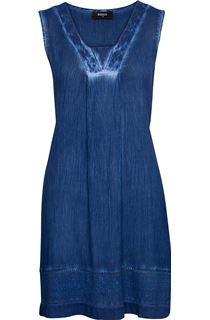 Crinkle Washed Tunic - Blue