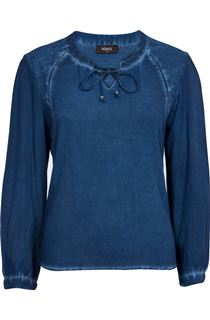 Cold Dye Peasant Top - Blue