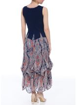 Chiffon Trim Parachute Dress