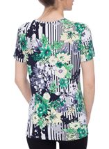 Anna Rose Floral And Stripe Top