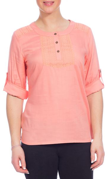 Anna Rose Lace Trim Top