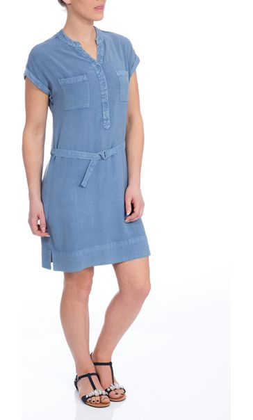 Washed Denim Look Tunic