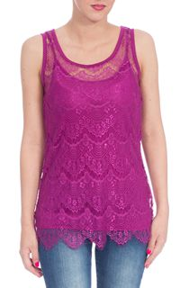 Floral Lace Top - Magenta