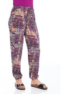 Aztec Inspired Print Elasticated Waist Trousers