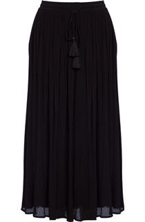 Elasticated Waist Crinkle Crepe Maxi Skirt