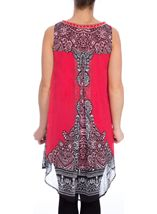 Sleeveless Placement Print Crinkle Georgette Tunic
