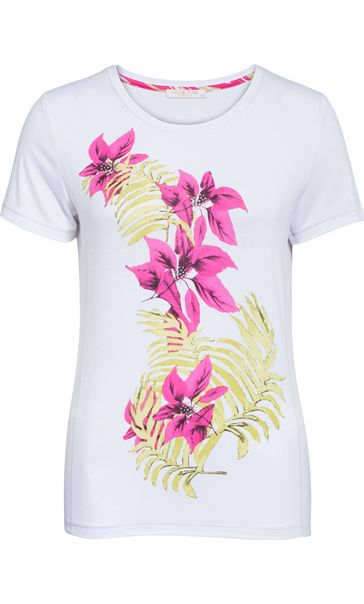 Anna Rose Short Sleeve Floral Print Top
