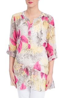 Anna Rose Crinkle Chiffon Top