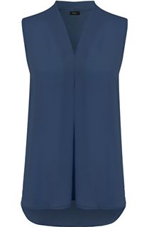 Sleeveless Georgette Top - Blue