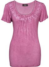 Short Sleeve Washed Jersey Top