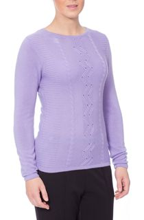 Anna Rose Embellished Knitted Top - Purple