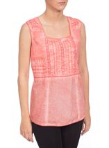 Washed Pleat Top