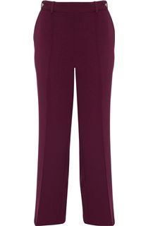 Anna Rose 29 Inch Straight Leg Trousers - Burgundy