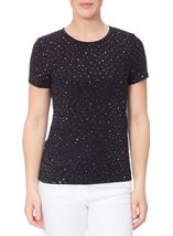 Anna Rose Embellished Short Sleeve Top