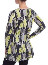 Long Sleeve Abstract Print Tunic