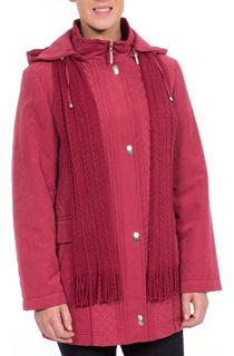 Anna Rose Scarf Coat - Pink
