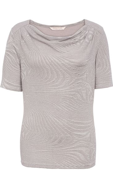 Anna Rose Cowl Neck Textured Sparkle Top