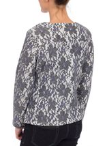Lace Design Unlined Zip Jacket