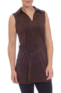 Sleeveless Suedette Tunic
