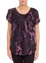 Anna Rose Burn Out Top