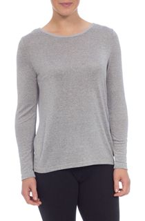 Knit And Georgette Round Neck Top