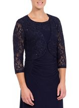 Three Quarter Sleeve Lace Cover Up