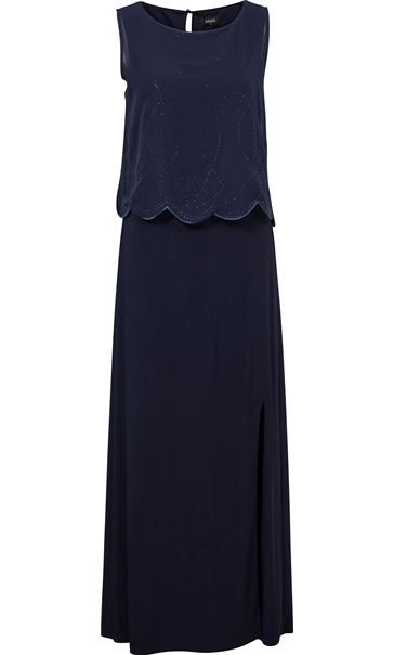 Chiffon Overlay Maxi Dress