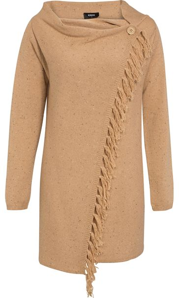 Long Sleeve Knitted Wrap Cardigan