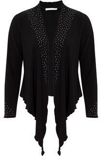 Anna Rose Long Sleeve Embellished Jersey Cover Up