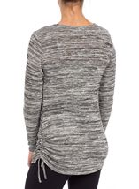 Knitted Cowl Neck Long Sleeve Tunic